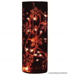 HOME KIG 23/GY Füstüveg henger dísz, hópehely dekorációval, 23 cm - megszűnt termék: 2014. november