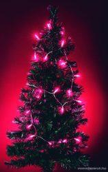 HOME KIP 100T Hagyományos izzós fényfüzér, 100 db rózsaszín (pink) izzóval - készlethiány