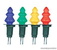 HOME KIR 12F Fenyőfa izzós fényfüzér, 12 izzó, színes - készlethiány