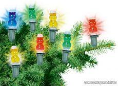 HOME KIR 12H Hóember izzós fényfüzér, 12 izzó, színes - készlethiány