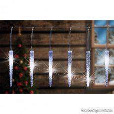 HOME KJL 15 Kültéri Jégcsap fényfüzér dekoráció, 180 db hideg fehér LED-del
