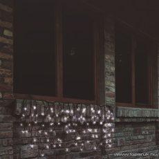 HOME KTF 100/WH Kültéri sorolható LED-es fényfüggöny, 100 db hidegfehér LED-del, 2 m hosszú