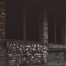 HOME KTF 200/WH Kültéri sorolható LED-es fényfüggöny, 200 db hideg fehér fényű leddel, 4 m hosszú