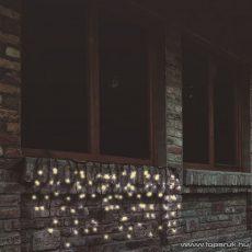 HOME KTF 200/WW Kültéri sorolható LED-es fényfüggöny, 200 db meleg fehér fényű leddel, 4 m hosszú