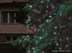 HOME KTI 100C/WH Kültéri sorolható LED-es fényfüzér, 100 db hidegfehér LED-del, 10 m hosszú