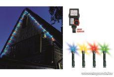 HOME KTL 108/M Kültéri LED-es fényérzékelős fényfüzér, 100 db színes led világítással, 8 programos fényjátékkal