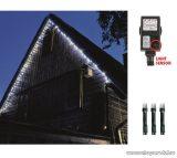 HOME KTL 108/WH Kültéri LED-es fényérzékelős fényfüzér, 100 db hideg fehér fényű leddel, 8 programos fényjátékkal