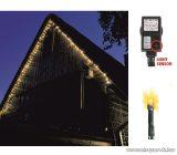 HOME KTL 108/WW Kültéri LED-es fényérzékelős fényfüzér, 100 db meleg fehér fényű leddel, 8 programos fényjátékkal