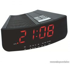 HOME LTCR 01 LED-es AM/FM rádiós asztali ébresztőóra