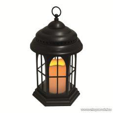 HOME LTN 4/BK Beltéri lámpás LED-es gyertyával, fekete