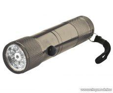 HOME MFL 02 LED-es elemlámpa pointerrel, fém, 8 LED-es
