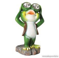 HOME MX 638 Napelemes kerti lámpa (szolár lámpa), zöld béka