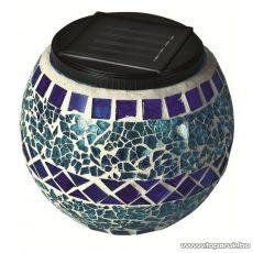 HOME MX 512/K Napelemes üvegmécses dekoráció, kék