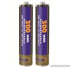 HOME M 300AAA/2 - AAA mini ceruza akkumulátor 300 mA, Ni-Mh, 2 db / csomag
