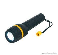 HOME PLR 01 Vízálló gumírozott elemlámpa, sárga