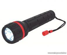 HOME PLR 03 Vízálló gumírozott elemlámpa, piros