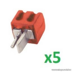 HOME SL 1S/RD Lengő hangszóródugó, piros, 5 db / csomag