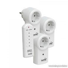 HOME TH 113 Távirányítható hálózati aljzat készlet, 3 db aljzat + 1 db távirányító (RMC 11 helyettesítő)