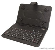 """HOME KB 70X Tablet tok micro USB csatlakozású billentyűzettel, 7""""-os tabletekhez, fekete - megszűnt termék: 2018. március"""