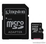 Kingston Secure Digital Micro 64GB SDXC Class10 memóriakártya + SD adapter