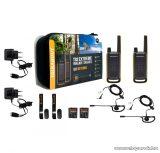 Motorola TLKR T82 Extreme adó-vevő készülék hordozótáskában, 10 km walky talky, sárga-fekete