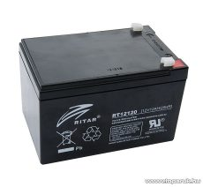 RITAR RT 12120 Zselés, ólom akkumulátor, gondozásmentes szünetmentes akku, 12V, 12Ah