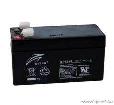 RITAR RT 1213 Zselés, ólom akkumulátor, gondozásmentes szünetmentes akku, 12V, 1,3Ah