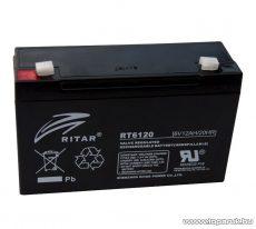 RITAR RT 6120 Zselés, ólom akkumulátor, gondozásmentes szünetmentes akku, 6V, 12Ah