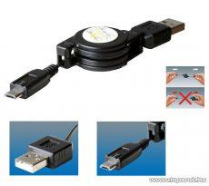 SAL SA 041 Micro USB töltőkábel automatikus kábel csévélővel