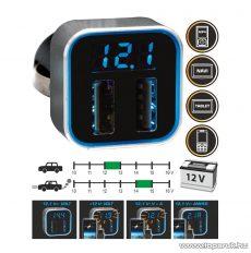 SAL SA 046 Autós USB adapter és Volt / Amper mérő, 12 / 24 V járművekhez
