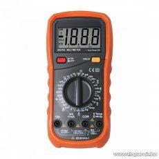 SMA 64 Digitális multiméter, feszültség, áram, ellenállás, frekvencia, kapacitás és hőmérséklet mérés, dióda és szakadás vizsgáló