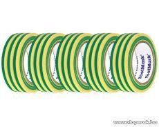 SMA SS 910 Szigetelőszalag, 10 m, zöld-sárga, 5 tekercs / csomag