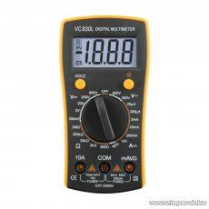 SMA VC 830L Digitális multiméter, feszültség, áram, ellenállás mérő, dióda és szakadás vizsgáló mérőműszer