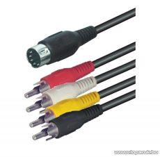 USE A 30 Audio RCA kábel 5 pólusú DIN dugó - 4 x RCA dugó, 1,5 m, 5 db / csomag - megszűnt termék: 2017. november