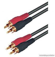 USE A 3G Audio RCA kábel 2 x RCA dugó - 2 x RCA dugó, 1,5 m, 5 pár / csomag - megszűnt termék: 2015. február