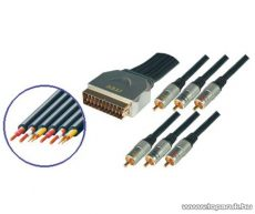 USE BBV 56-1,5 Scart dugó - 6RCA dugó kábelen
