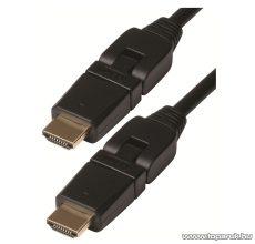 USE HD 1-360 Elfordítható csatlakozós HDMI kábel, V 1.4, aranyozott, 1 m