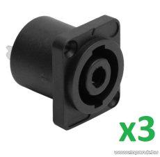 USE SPK 850 Speakon aljzat csatlakozó, beépíthető, 4 pólusú, 3 db / csomag