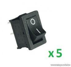 USE ST 1/BK Mini billenőkapcsoló, 1 áramkör - 2 állás, 250 V, fekete, 5 db / csomag