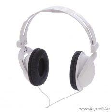 WELT 791736 Összecsukható kivitelű, sztereo fejhallgató, fehér
