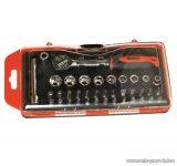 SMA DE 101471 Racsnis szerszámkészlet, csavarhúzó készlet praktikus akasztható tárolódobozzal, 38 db-os