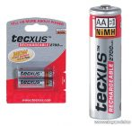 tecxus TCM 2700AA Ceruza (AA) akkumulátor, 2700 mAh, 2 db / csomag