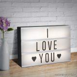 LED-es világító fénydoboz, szövegdoboz felirattal, 30 x 22 x 4,3 cm