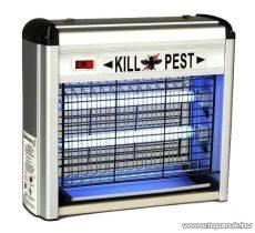 KillPest UV-fénycsöves, ALU házas elektromos rovarcsapda, 2 x 6 W - készlethiány