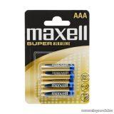 maxell Tartós mikroceruza elem, AAA, LR03, XL Super, Alkaline, 1,5V, 4 db / csomag (18731)