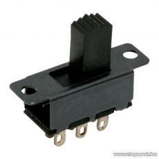 Tolókapcsoló, 2 áramkör, 0,5A-50VDC, ON-ON, 10 db / csomag (09006) - készlethiány