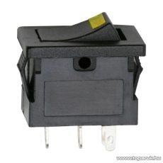 Billenő kapcsoló, 1 áramkör, 15A-12VDC, OFF-ON, sárga LED-el, 5 db / csomag (09027SA)