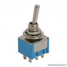 Karos kapcsoló, 2 áramkör, 3A-250V, ON-ON, 10 db / csomag (09030)