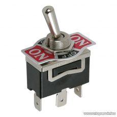 Karos kapcsoló, 1 áramkör, 10A-250V, ON-OFF-ON, előlappal, 5 db / csomag (09053)