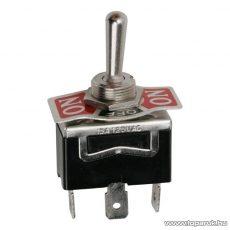 Visszaálló karos kapcsoló, 1 áramkör, 10A-250V, (ON)-OFF-(ON), előlappal, 5 db / csomag (09054)